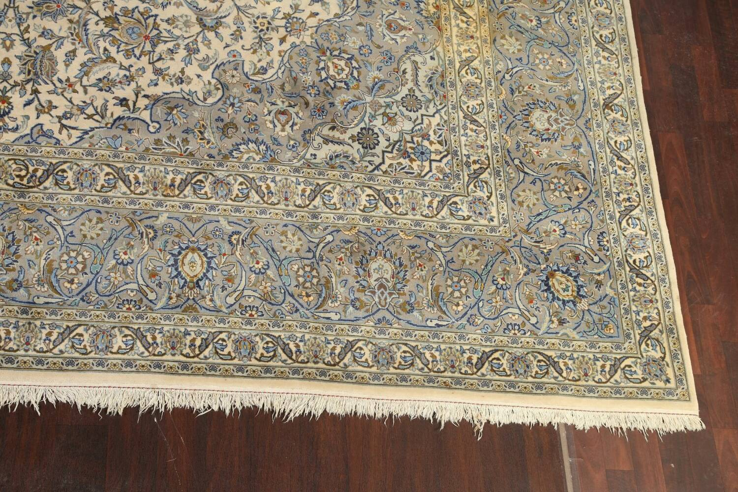 Traditional Floral Kashan Persian Area Rug 13x20 image 5