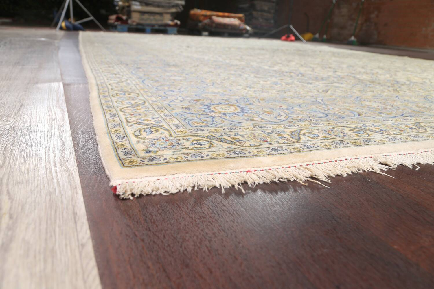Traditional Floral Kashan Persian Area Rug 13x20 image 6