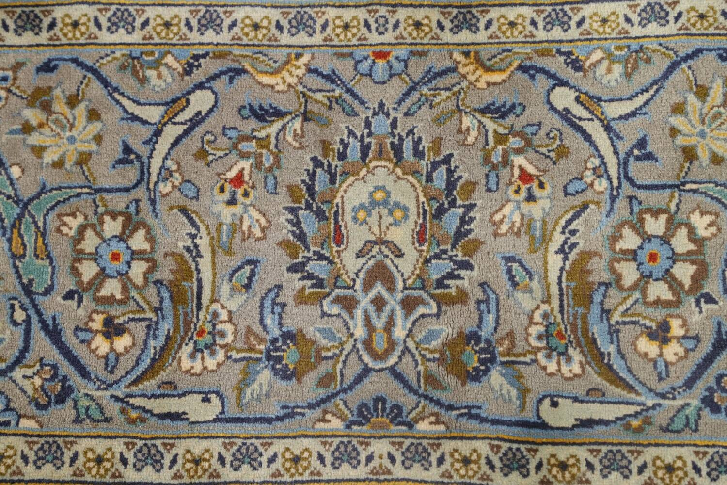 Traditional Floral Kashan Persian Area Rug 13x20 image 9