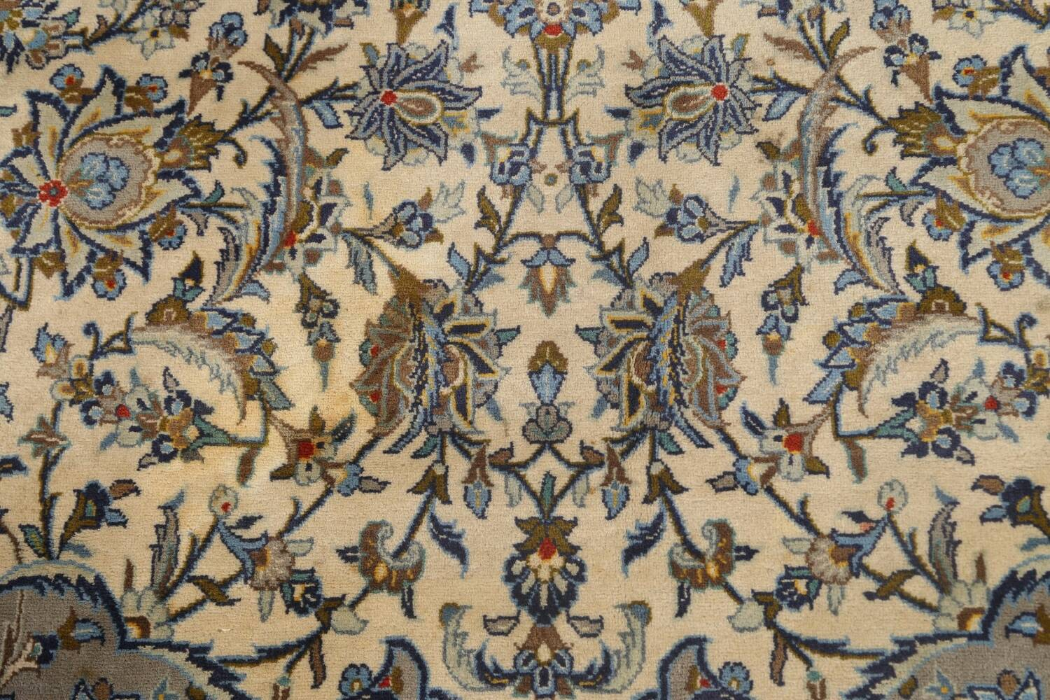 Traditional Floral Kashan Persian Area Rug 13x20 image 10