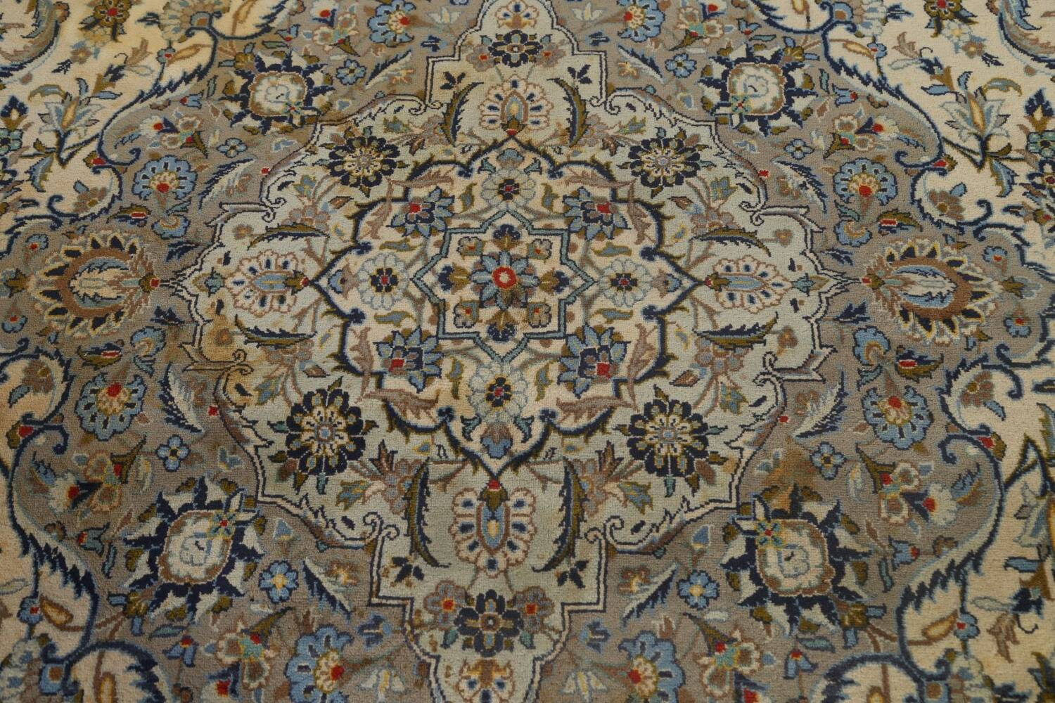Traditional Floral Kashan Persian Area Rug 13x20 image 12