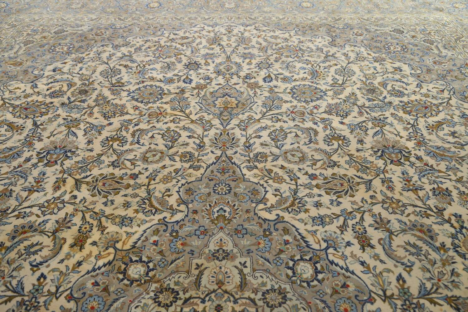 Traditional Floral Kashan Persian Area Rug 13x20 image 13