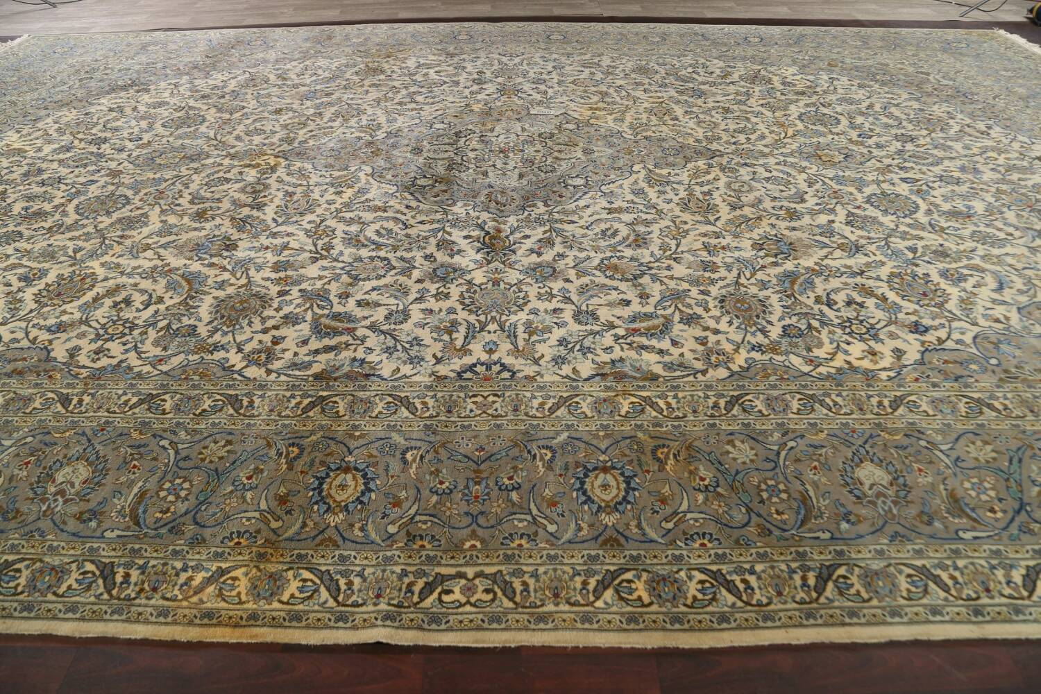 Traditional Floral Kashan Persian Area Rug 13x20 image 18
