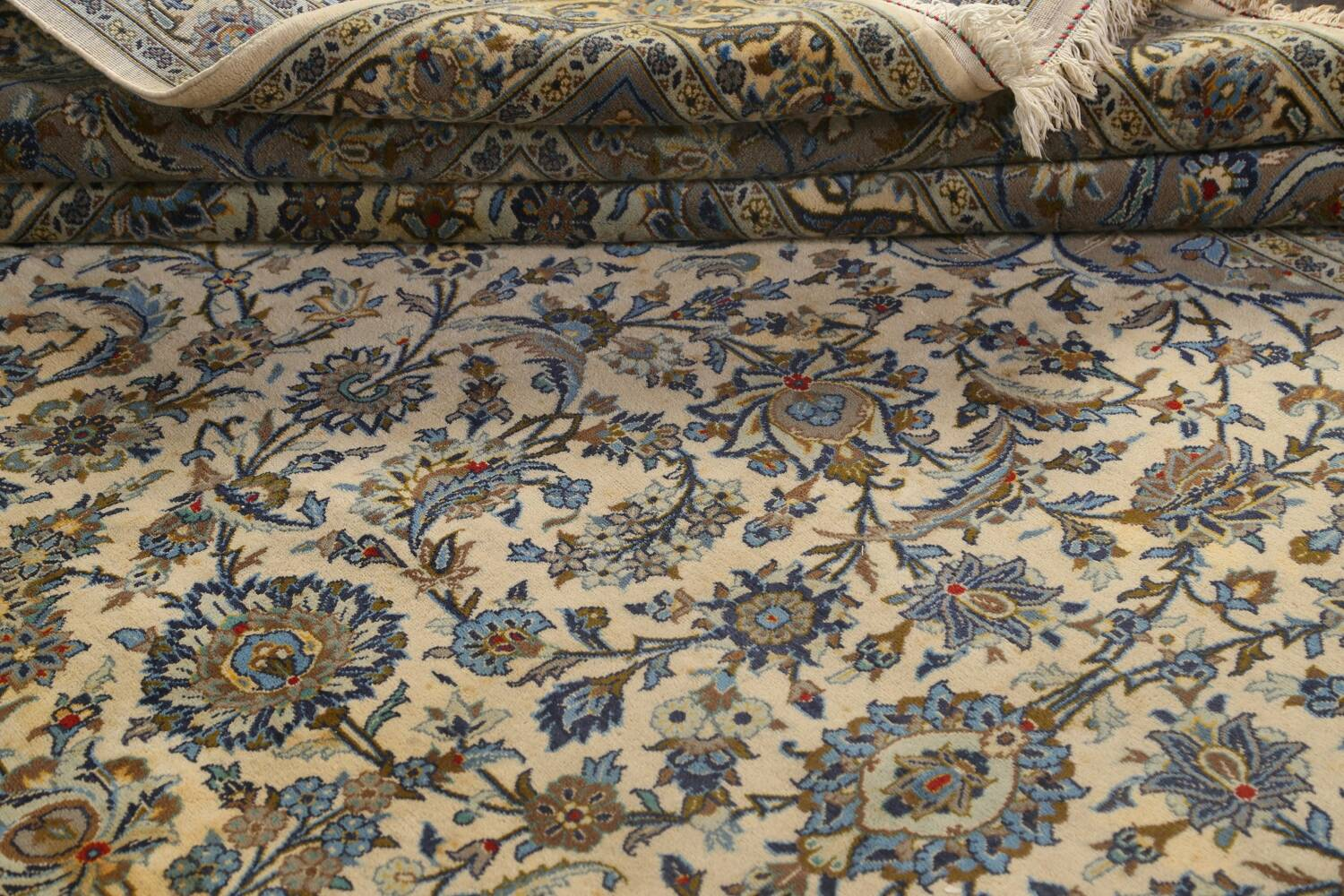Traditional Floral Kashan Persian Area Rug 13x20 image 23
