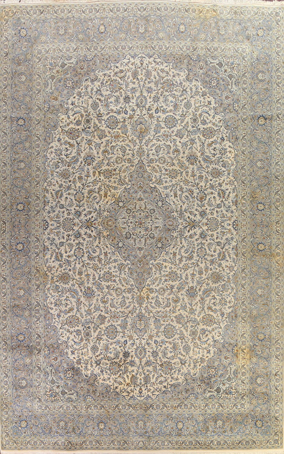 Traditional Floral Kashan Persian Area Rug 13x20 image 1