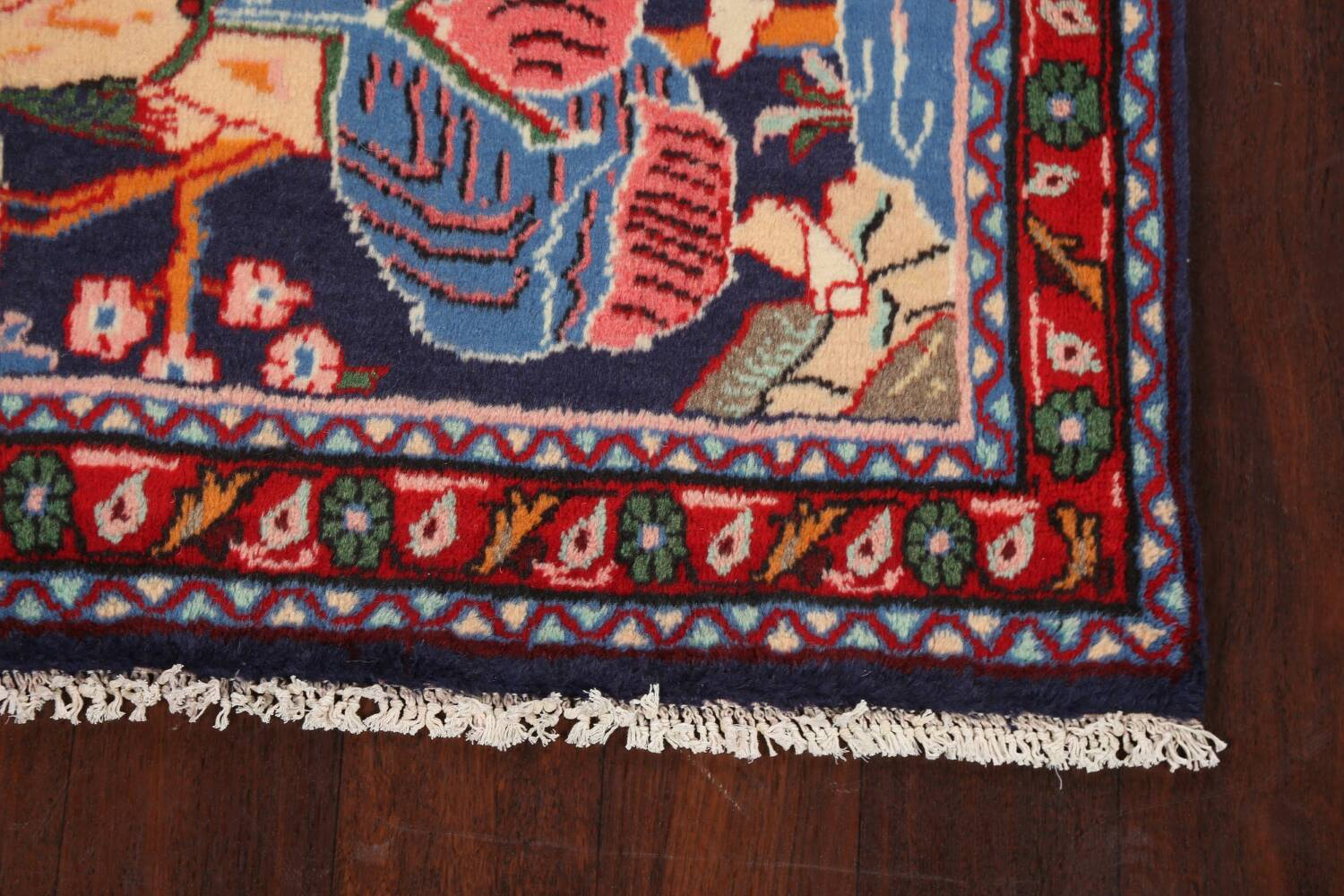 Pictorial Kashmar Persian Area Rug 3x5 image 7