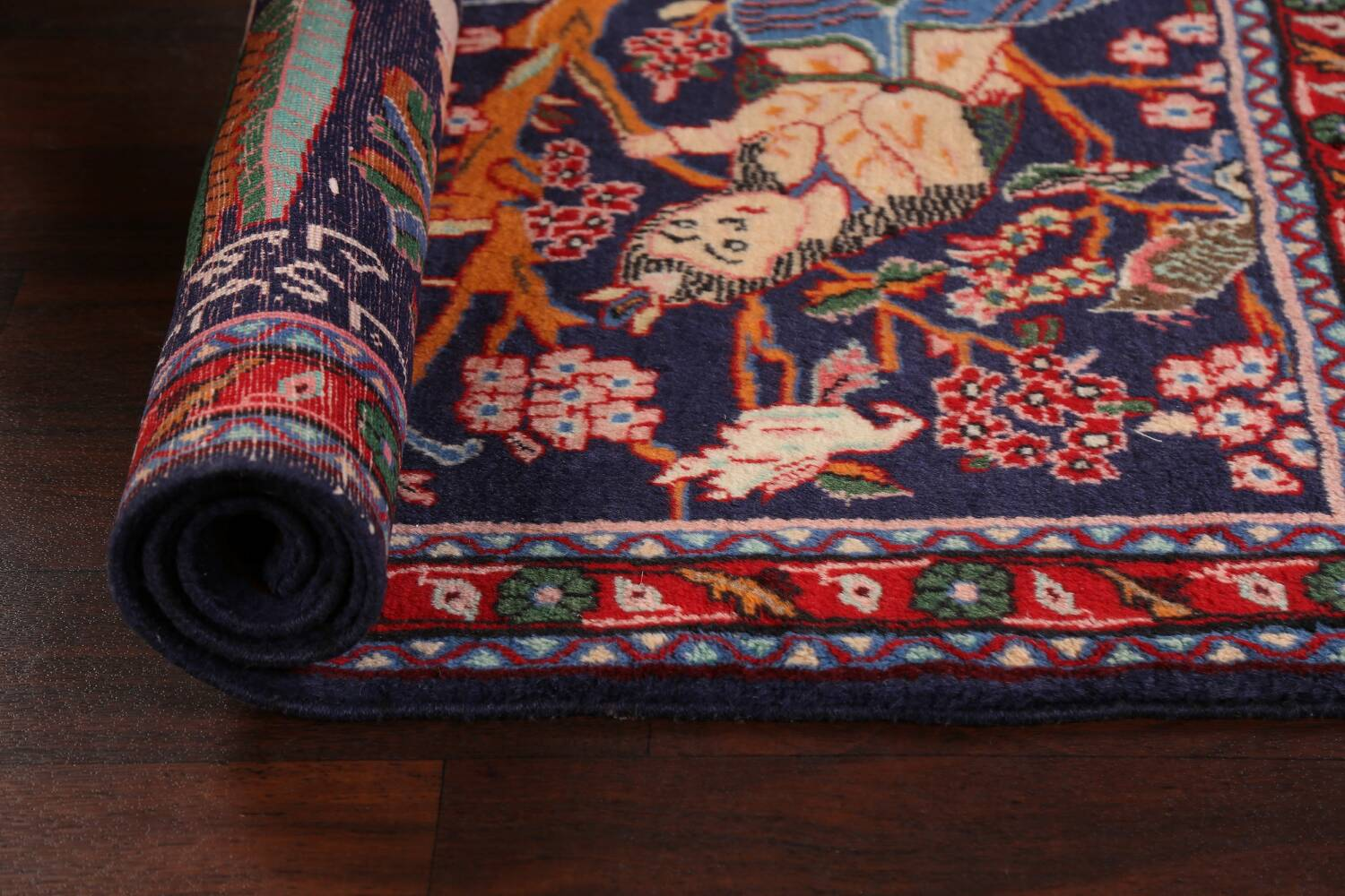 Pictorial Kashmar Persian Area Rug 3x5 image 16