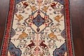 Animal Pictorial Vegetable Dye Senneh Persian Area Rug 3x5 image 3