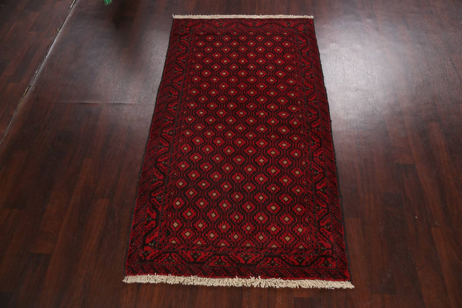 All-Over Geometric Balouch Afghan Oriental Area Rug 4x7 image 2