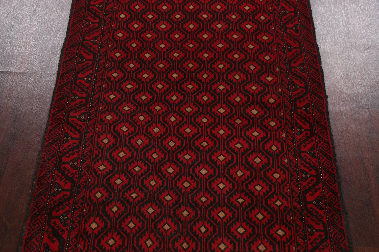 All-Over Geometric Balouch Afghan Oriental Area Rug 4x7 image 3