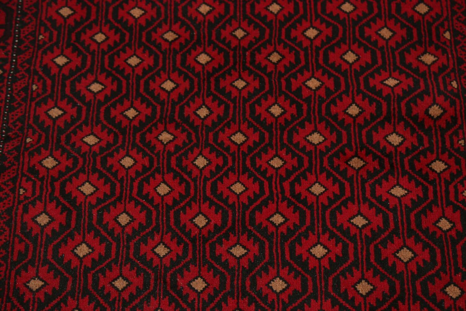 All-Over Geometric Balouch Afghan Oriental Area Rug 4x7 image 4
