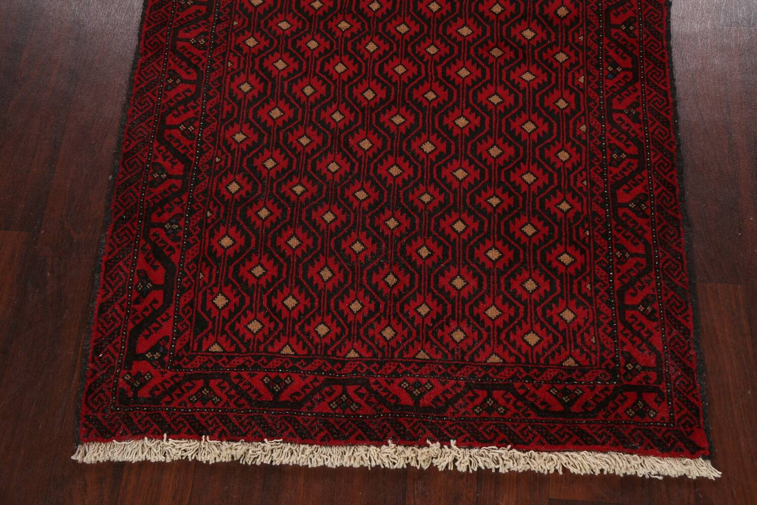 All-Over Geometric Balouch Afghan Oriental Area Rug 4x7 image 8