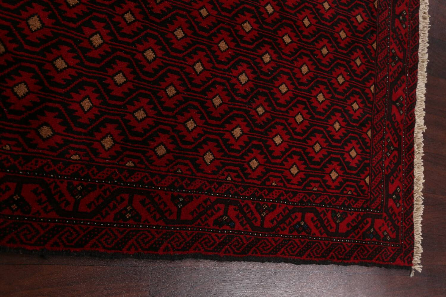 All-Over Geometric Balouch Afghan Oriental Area Rug 4x7 image 11
