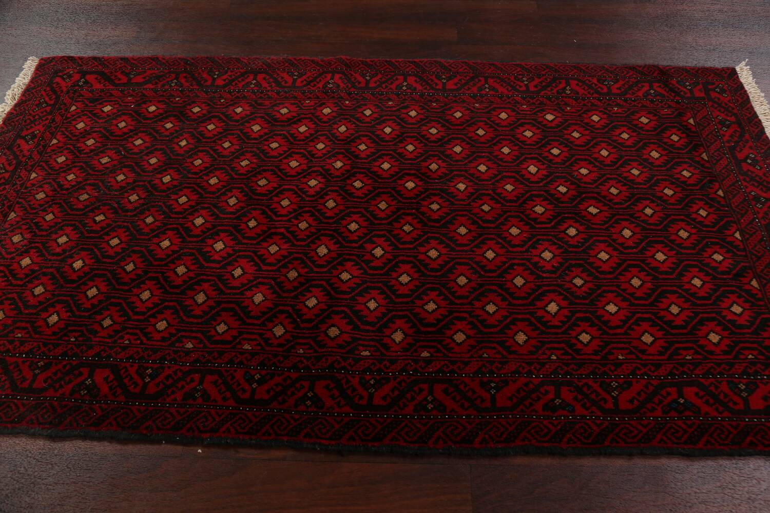 All-Over Geometric Balouch Afghan Oriental Area Rug 4x7 image 12