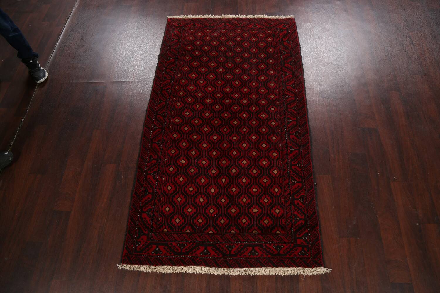 All-Over Geometric Balouch Afghan Oriental Area Rug 4x7 image 13