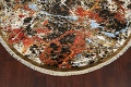 Round Vegetable Dye Modern Abstract Oriental Area Rug 6x6 image 8