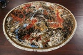 Round Vegetable Dye Modern Abstract Oriental Area Rug 6x6 image 10