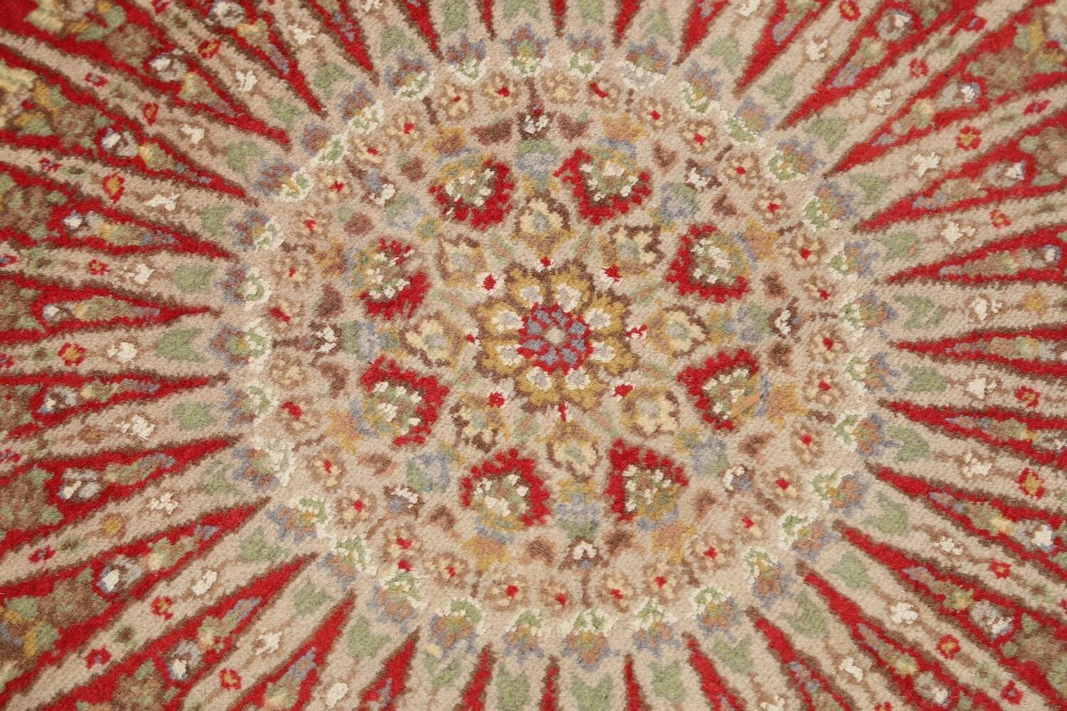 Vegetable Dye Round Royal Tabriz Oriental Area Rug 5x5 image 9