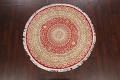 Vegetable Dye Round Royal Tabriz Oriental Area Rug 5x5 image 2