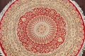Vegetable Dye Round Royal Tabriz Oriental Area Rug 5x5 image 3