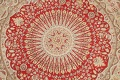 Vegetable Dye Round Royal Tabriz Oriental Area Rug 5x5 image 4