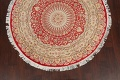 Vegetable Dye Round Royal Tabriz Oriental Area Rug 5x5 image 8