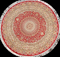 Vegetable Dye Round Royal Tabriz Oriental Area Rug 5x5 image 1