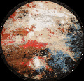 Round Vegetable Dye Abstract Oriental Area Rug 6x6 image 1