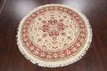 Round Vegetable Dye Royal Tabriz Oriental Area Rug 6x6 image 2