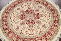 Round Vegetable Dye Royal Tabriz Oriental Area Rug 6x6 image 3