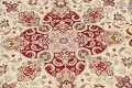 Round Vegetable Dye Royal Tabriz Oriental Area Rug 6x6 image 4