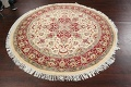 Round Vegetable Dye Royal Tabriz Oriental Area Rug 6x6 image 10