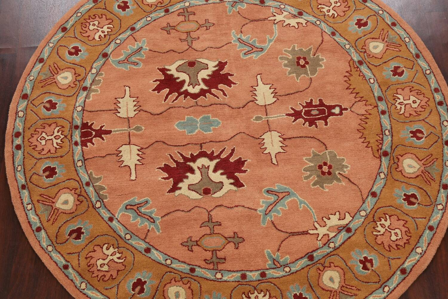 Floral Round Rug 8x8 image 3
