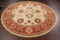 Floral Round Rug 8x8 image 9