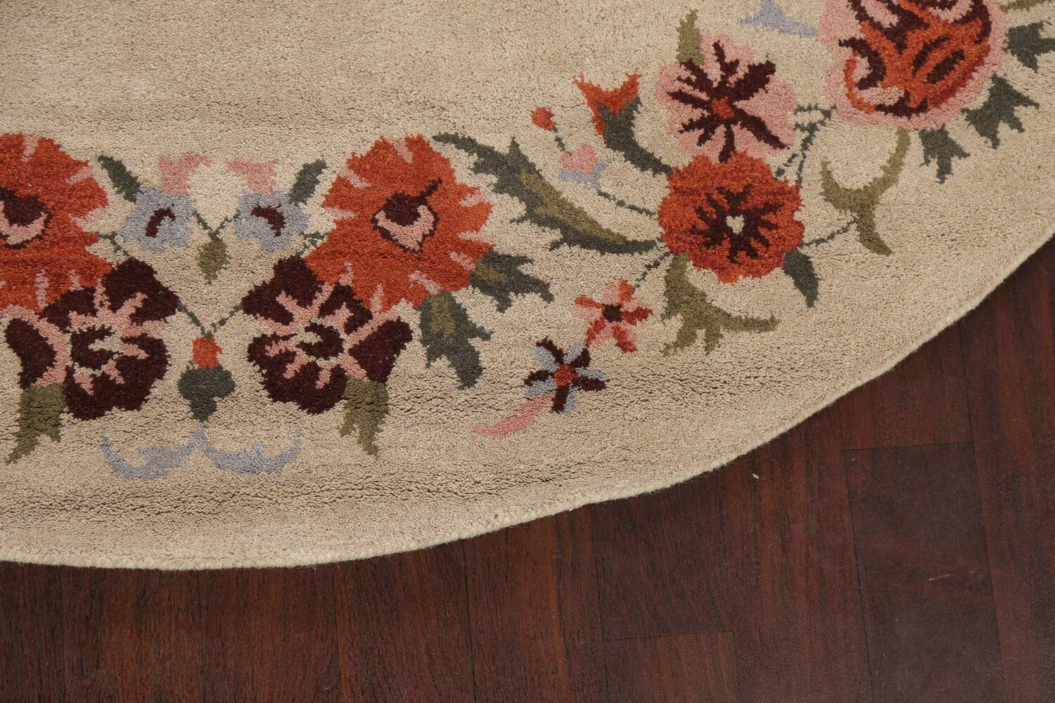 Floral Round Rug 8x8 image 6
