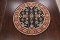 Floral Round Rug 8x8 image 2