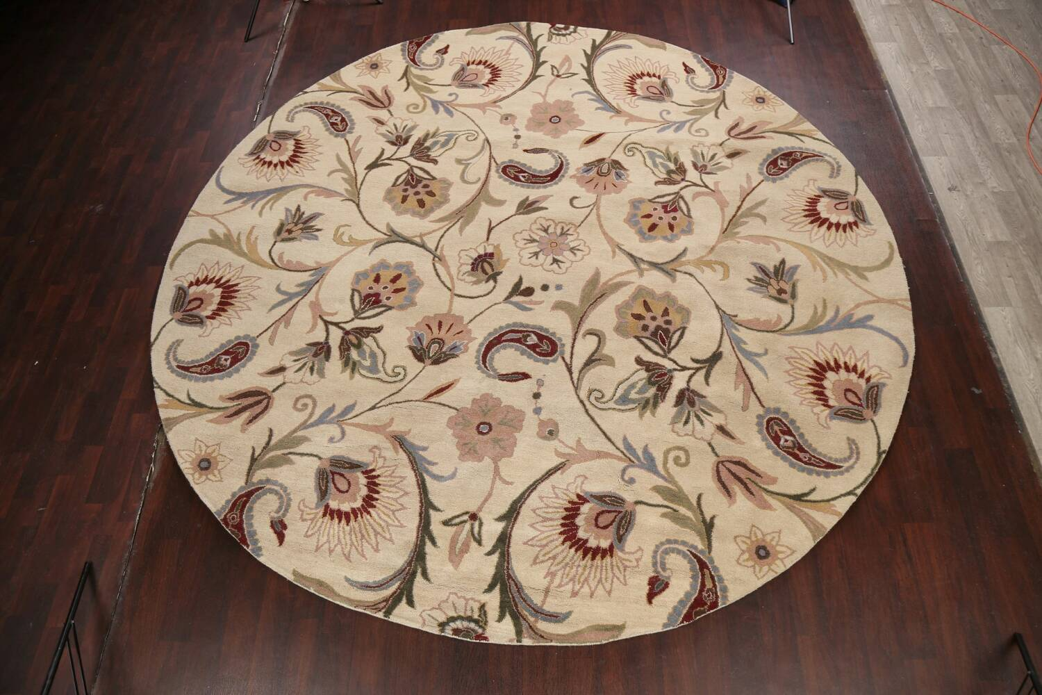 Floral Round Rug 12x12 image 2