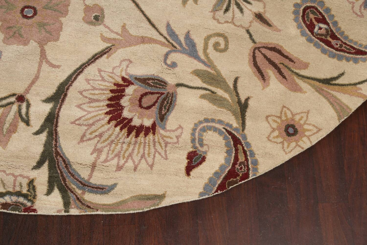 Floral Round Rug 12x12 image 6