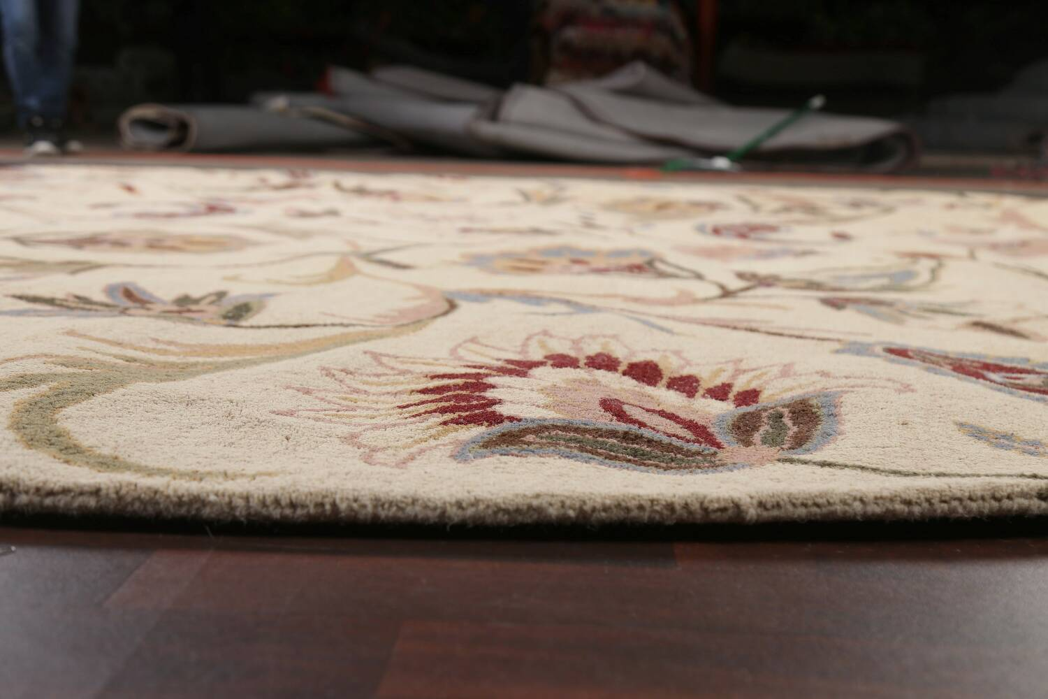 Floral Round Rug 12x12 image 7