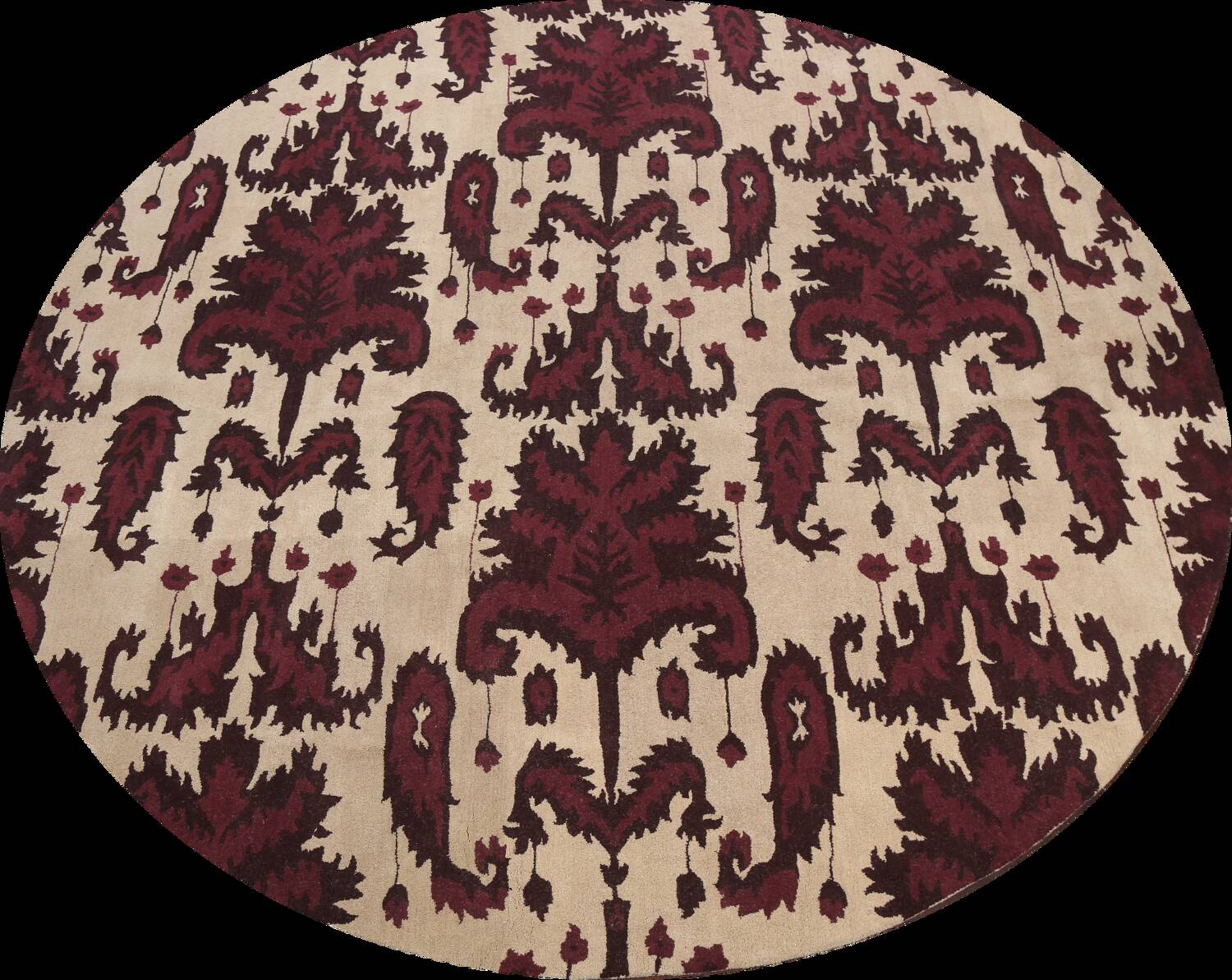 Abstract Round Rug 12x12 image 1