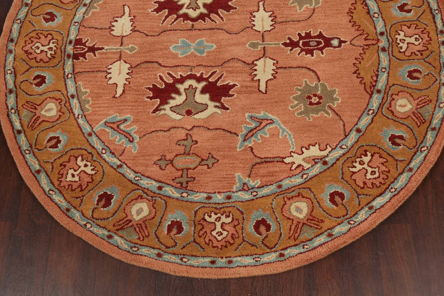 Floral Round Rug 6x6 image 5