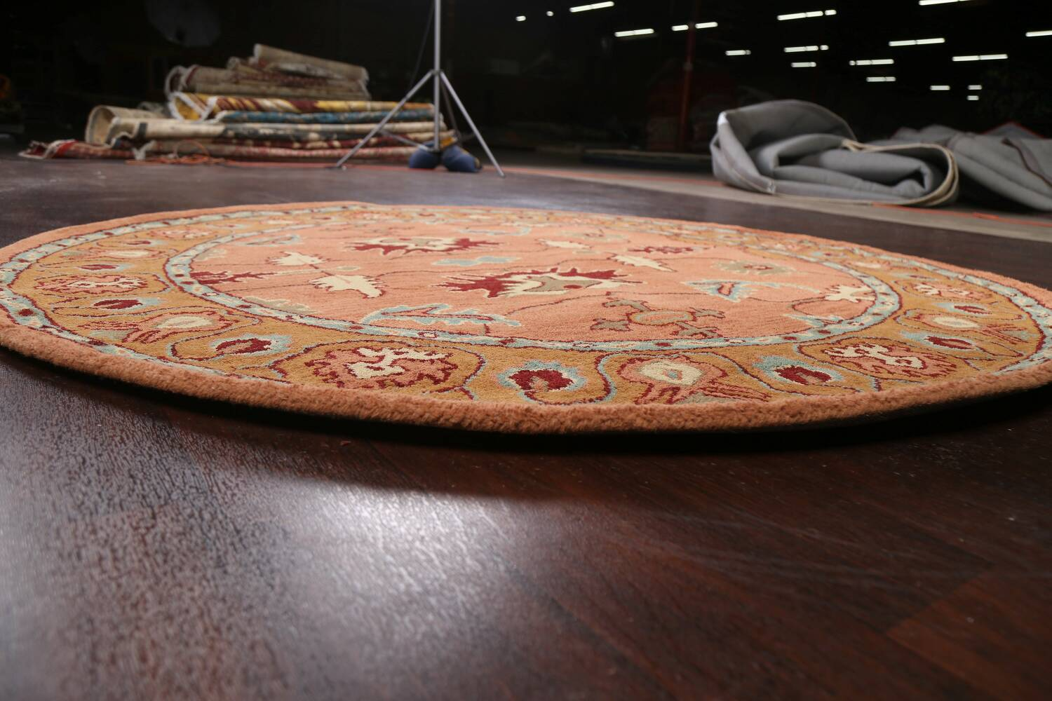 Floral Round Rug 6x6 image 7