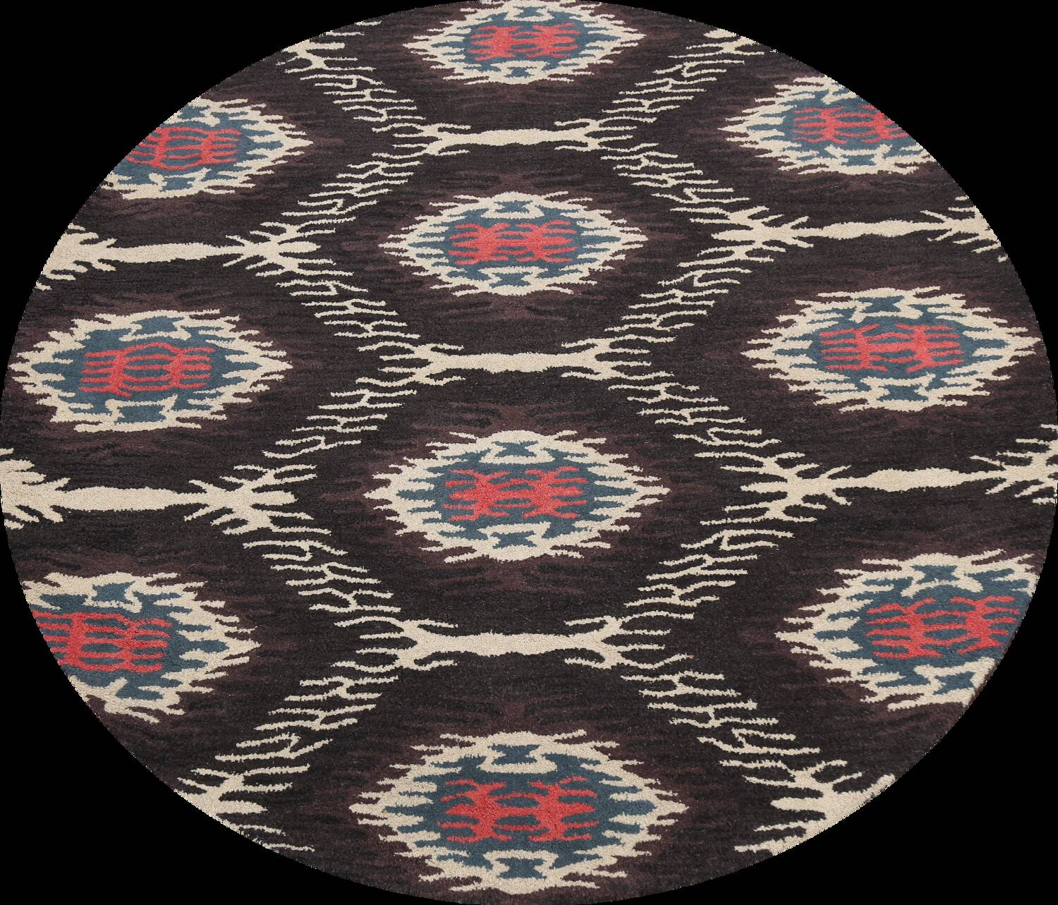Abstract Round Rug 6x6 image 1
