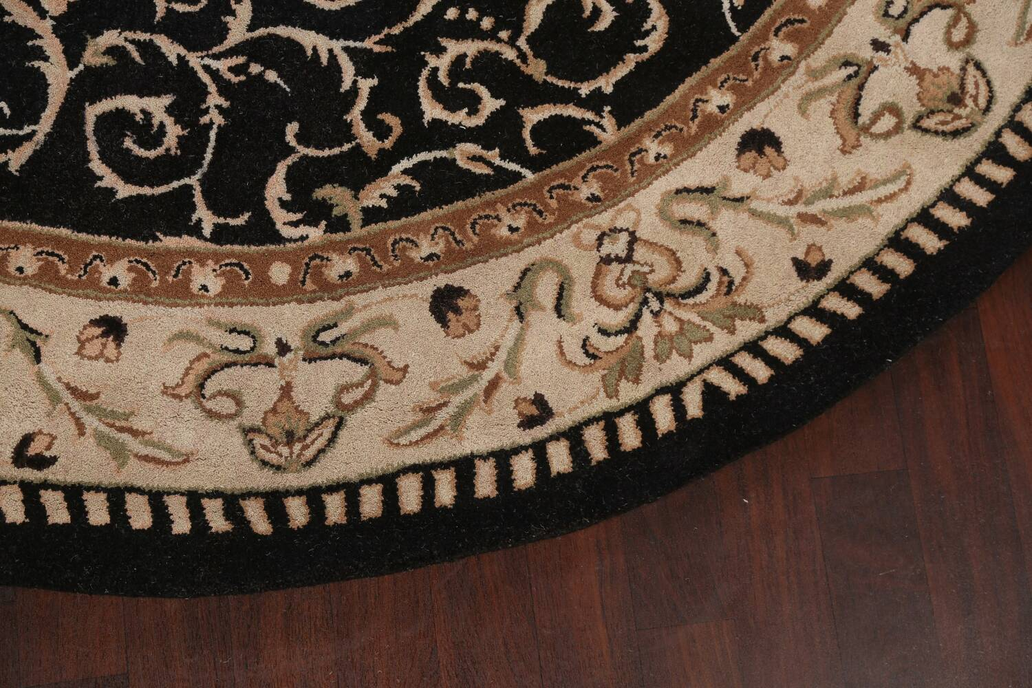 Floral Round Rug 10x10 image 6
