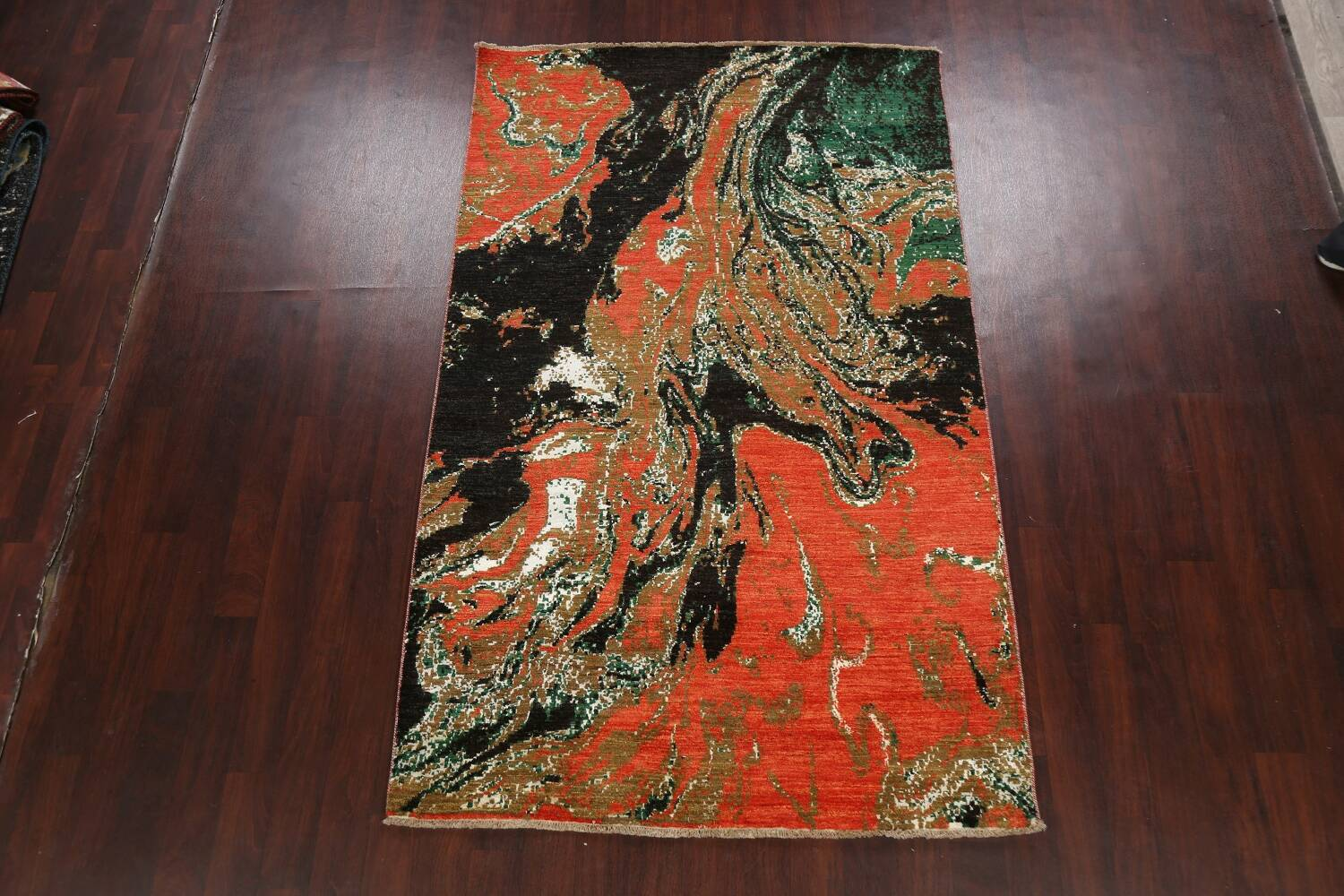Artistic Modern Abstract Oriental Area Rug 5x8 image 2