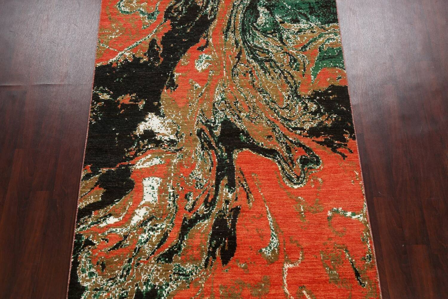 Artistic Modern Abstract Oriental Area Rug 5x8 image 3