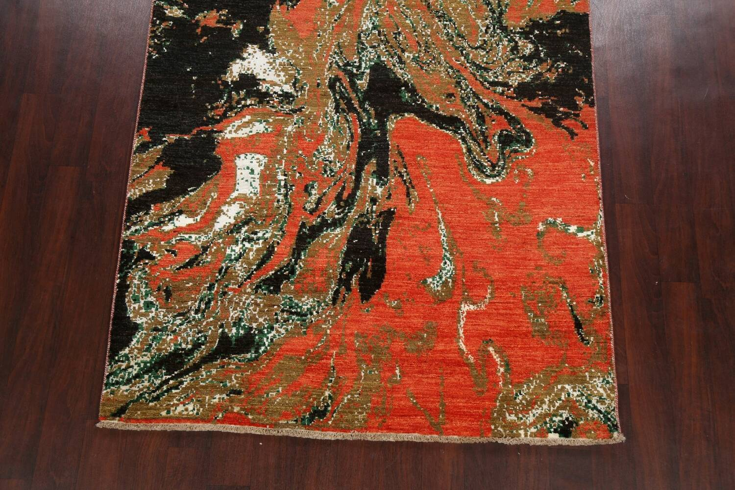Artistic Modern Abstract Oriental Area Rug 5x8 image 8