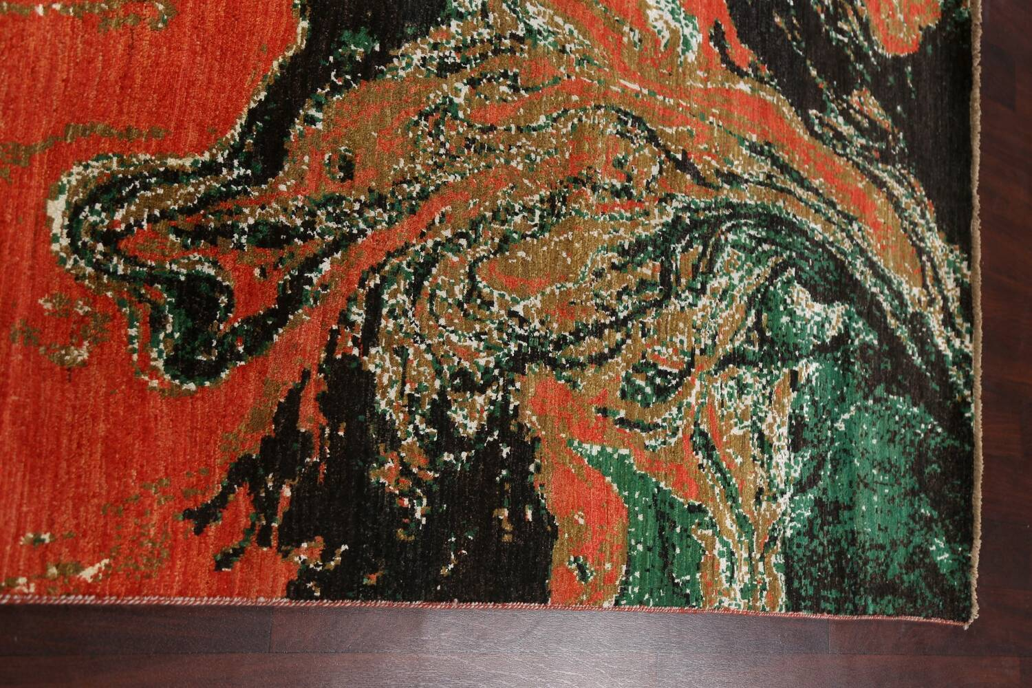 Artistic Modern Abstract Oriental Area Rug 5x8 image 12