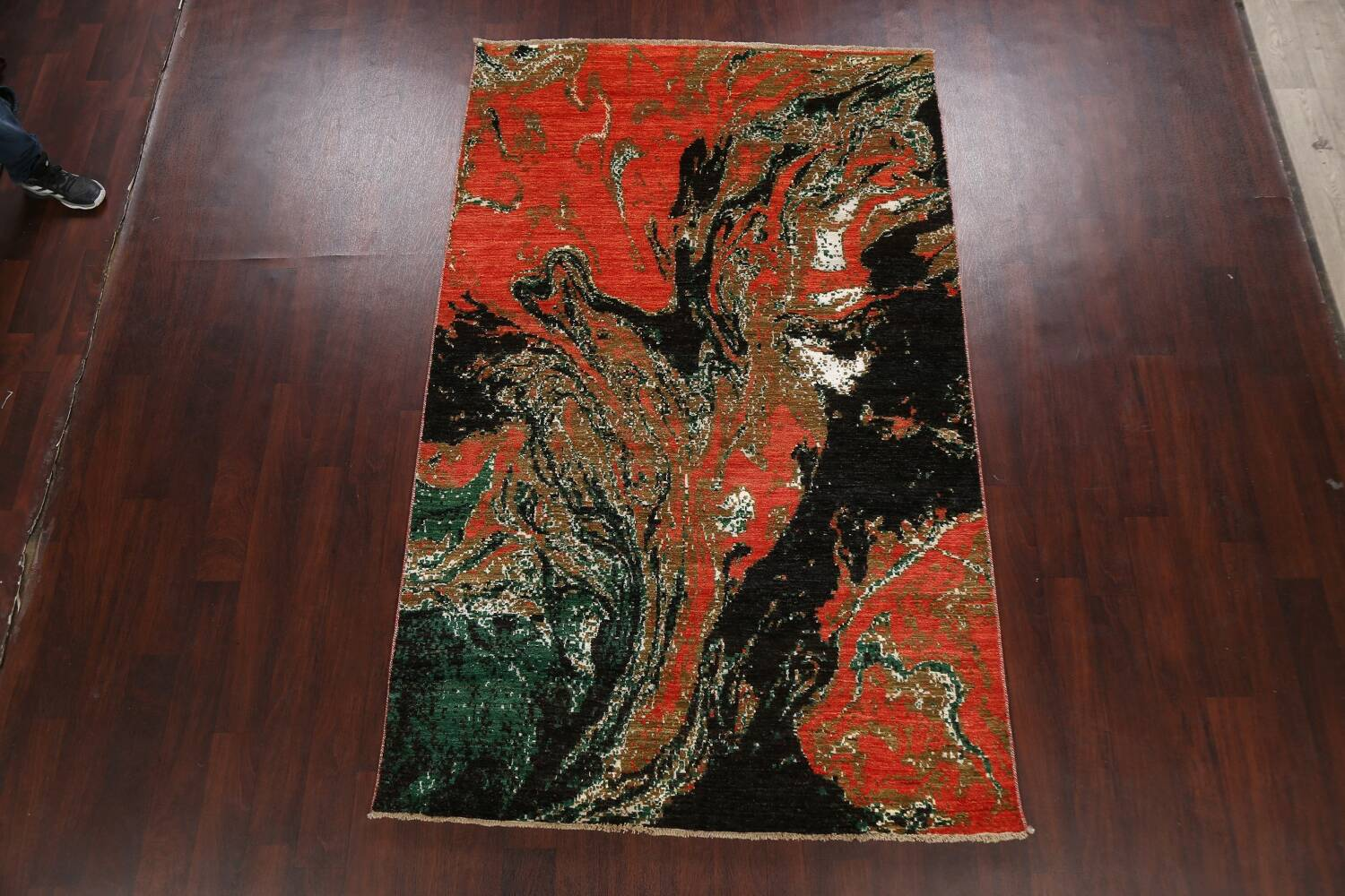 Artistic Modern Abstract Oriental Area Rug 5x8 image 14