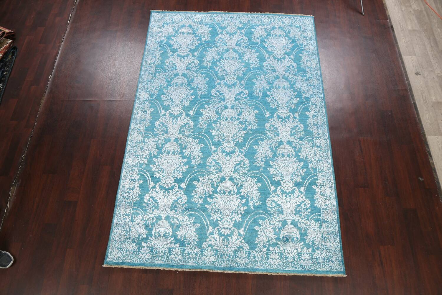 All-Over Floral Art & Craft Oriental Area Rug 6x9 image 2